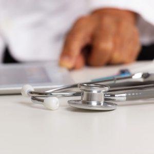 Stethoscope on table